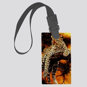 Leopard Large Luggage Tag