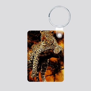 Leopard Aluminum Photo Keychain