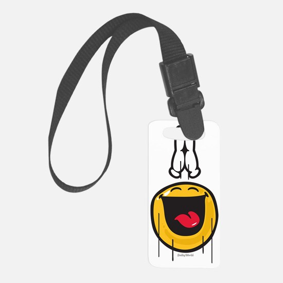 exultance smiley Small Luggage Tag