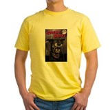 Crazy dog Mens Classic Yellow T-Shirts