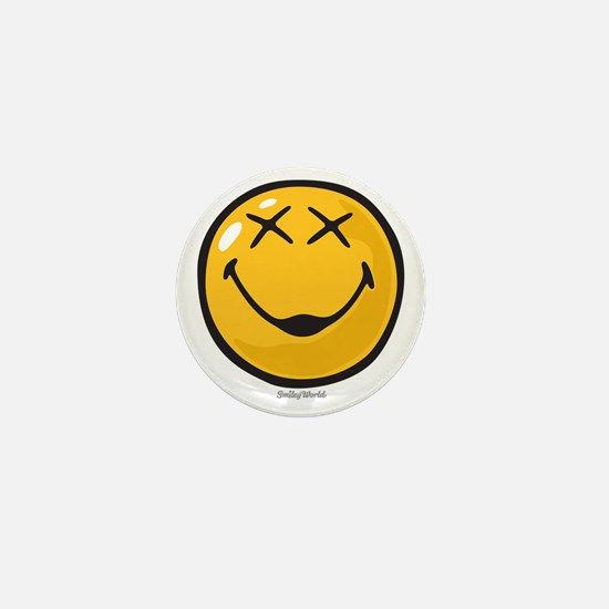 unconscious smiley Mini Button