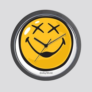 unconscious smiley Wall Clock