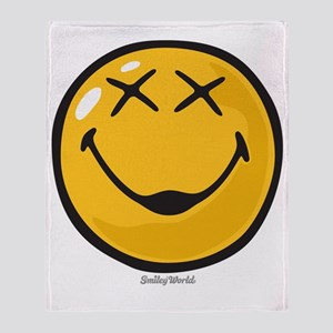 unconscious smiley Throw Blanket