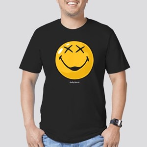 unconscious smiley Men's Fitted T-Shirt (dark)
