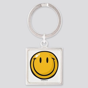 big smile smiley Square Keychain
