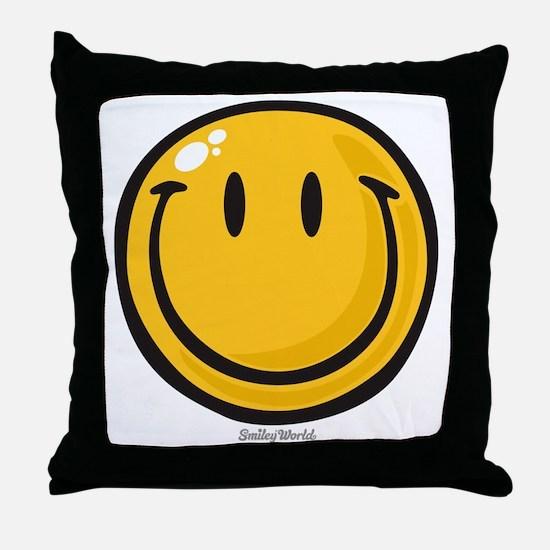 big smile smiley Throw Pillow