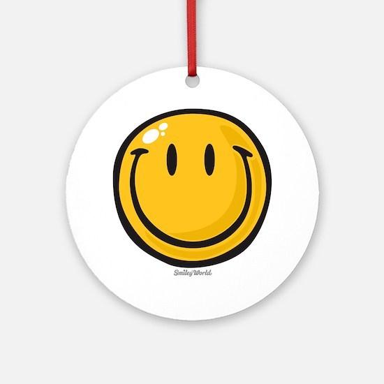 big smile smiley Round Ornament
