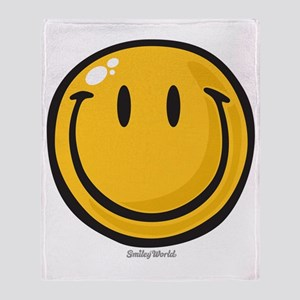 big smile smiley Throw Blanket