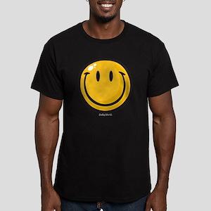 big smile smiley Men's Fitted T-Shirt (dark)