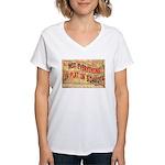Flat S Dakota Women's V-Neck T-Shirt