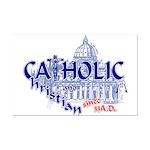 Catholic and Christian (Blue) Mini Poster Print