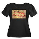 Flat N Dakota Women's Plus Size Scoop Neck Dark T-