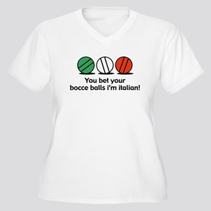 You Bet Your Bocce Balls Women's Plus Size V-Neck