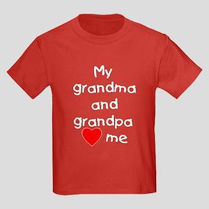 My grandma and grandpa love me Kids Dark T-Shirt