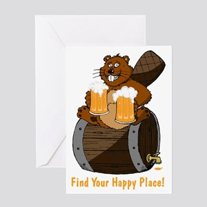 Happy Beaver Brewery Greeting Card