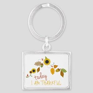 I Am Thankful Landscape Keychain