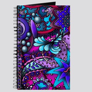 Blue and Purple Paisley Journal