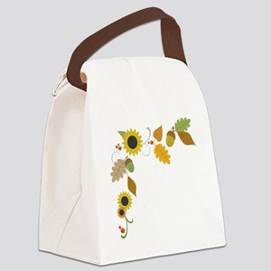 Thanksgiving Border Canvas Lunch Bag