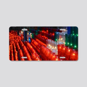 Light your candle Aluminum License Plate