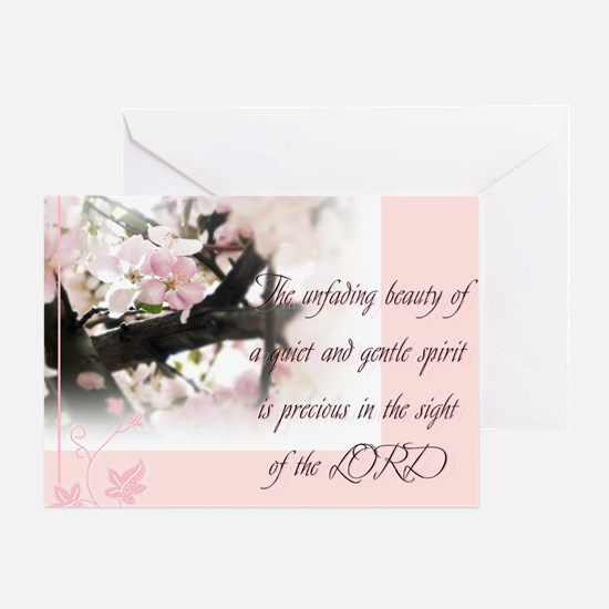 Quiet and Gentle spirit Greeting Card