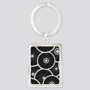 Bicycle Wheels Pattern - Sports  Portrait Keychain
