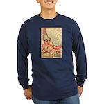 Flat Idaho Long Sleeve Dark T-Shirt