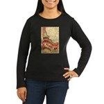 Flat Idaho Women's Long Sleeve Dark T-Shirt