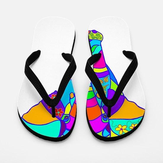 elephant colored designed Flip Flops