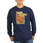 Flat Minnesota Long Sleeve Dark T-Shirt