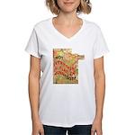Flat Minnesota Women's V-Neck T-Shirt