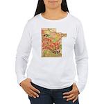 Flat Minnesota Women's Long Sleeve T-Shirt