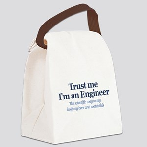 Trust Me I'm An Engineer Canvas Lunch Bag