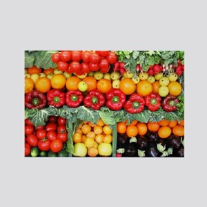 fruits and veggies Rectangle Magnet
