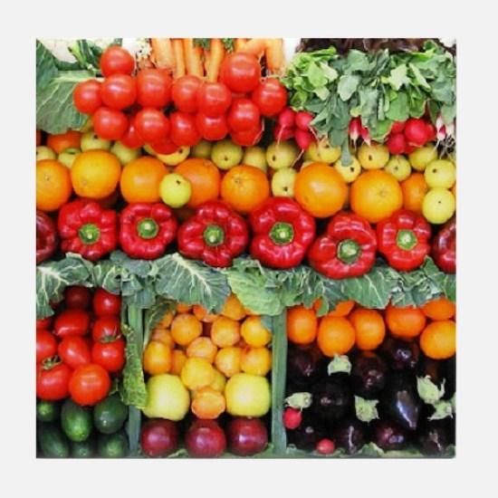 fruits and veggies Tile Coaster