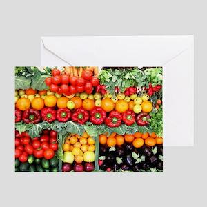 fruits and veggies Greeting Card