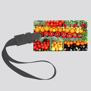 fruits and veggies Large Luggage Tag