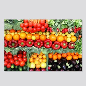 fruits and veggies Postcards (Package of 8)