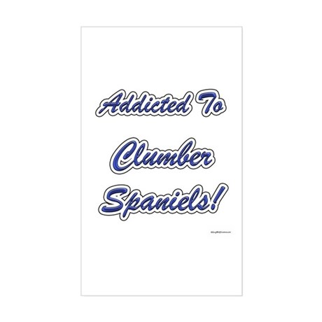 Clumber Addicted Rectangle Sticker