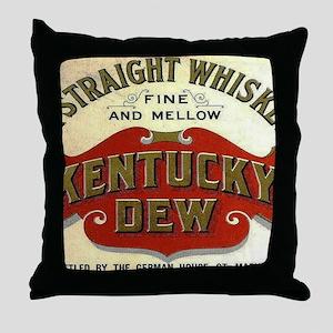 Kentucky Dew Whiskey Throw Pillow