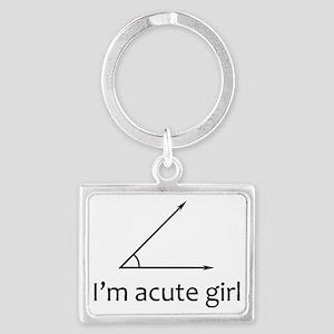 Im acute girl Landscape Keychain