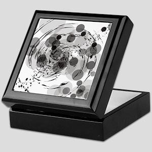 Black and white circles Keepsake Box