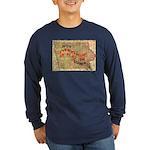Flat Iowa Long Sleeve Dark T-Shirt