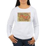 Flat Iowa Women's Long Sleeve T-Shirt