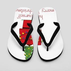 Merry Little Christmas Flip Flops