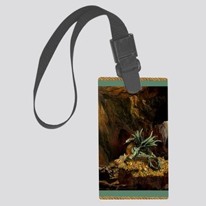 Dragons Lair Green Braid Large Luggage Tag