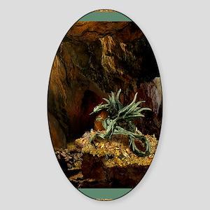 Dragons Lair Green Braid Sticker (Oval)