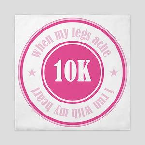 10K Runner's Badge Queen Duvet
