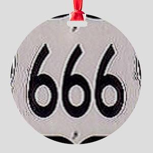 666 Round Ornament