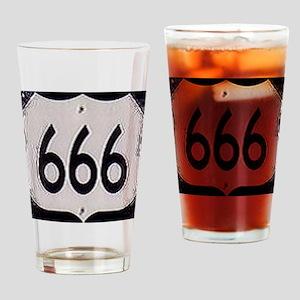 666 Drinking Glass