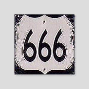 """666 Square Sticker 3"""" x 3"""""""